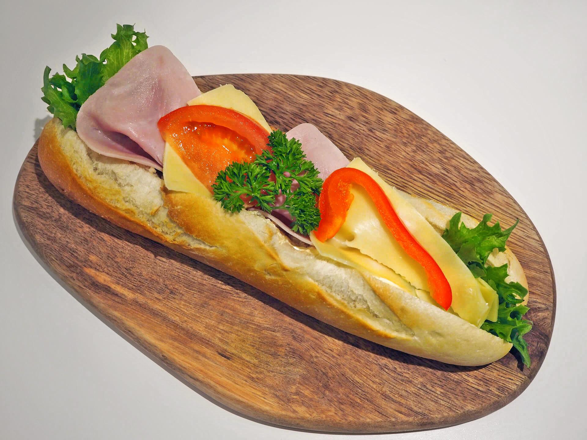 Baguetter - Ost/skinke