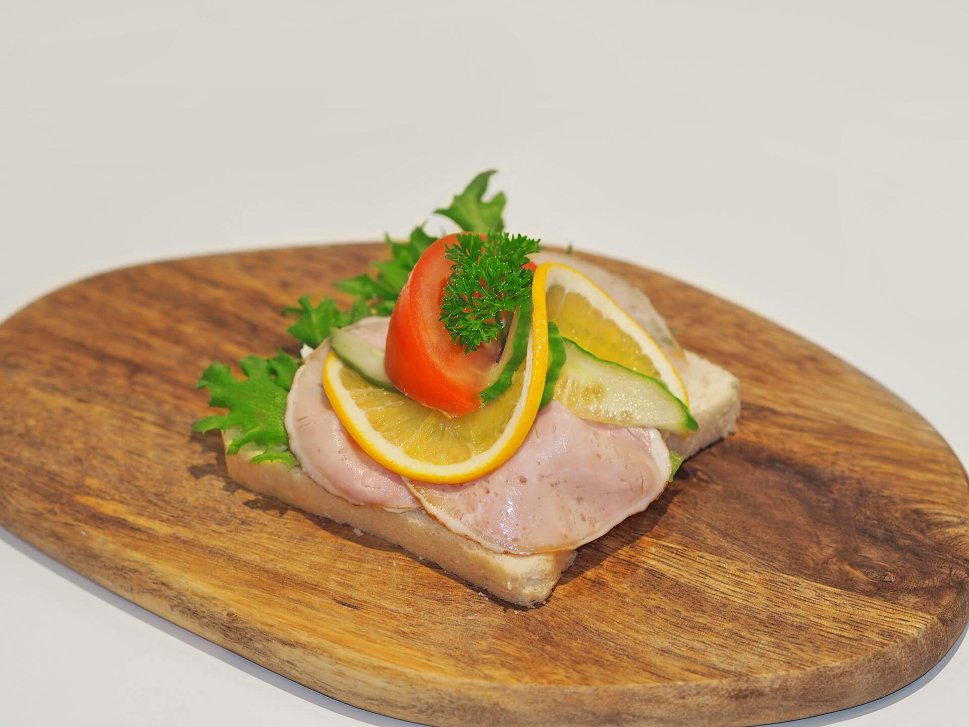 Smørbrød - Skinke m/eggerøre